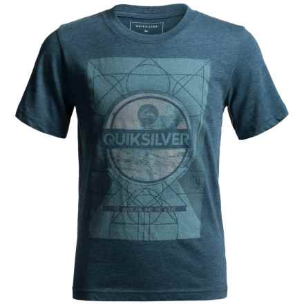 Quiksilver Lunar Endor T-Shirt - Short Sleeve (For Big Boys) in Dark Denim Heather - Closeouts