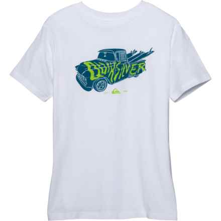 Quiksilver Magic Car T-Shirt - Short Sleeve (For Big Boys) in White - Closeouts