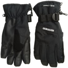 Quiksilver Mission Gloves - Waterproof, Insulated (For Men) in Black - Closeouts