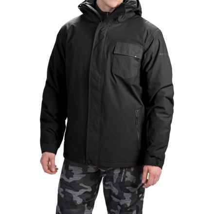 Quiksilver Mission Plain Snowboard Jacket - Waterproof, Insulated (For Men) in Black - Closeouts