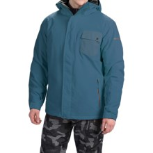 Quiksilver Mission Plain Snowboard Jacket - Waterproof, Insulated (For Men) in Dark Denim - Closeouts