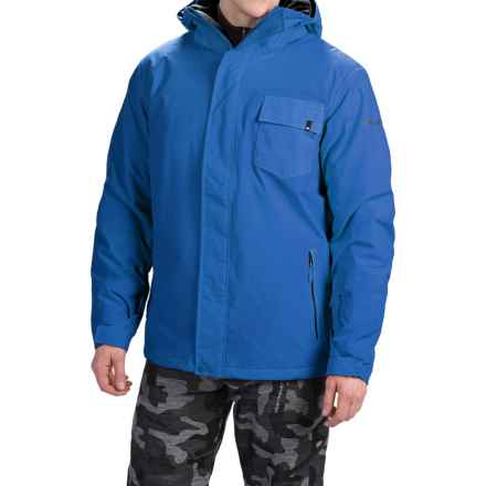 Quiksilver Mission Plain Snowboard Jacket - Waterproof, Insulated (For Men) in Olympian Blue - Closeouts