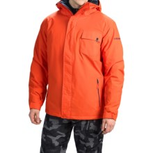 Quiksilver Mission Plain Snowboard Jacket - Waterproof, Insulated (For Men) in Pumpkin Spice - Closeouts