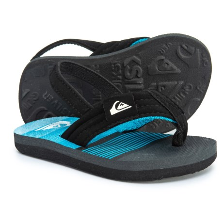 befa7aadf416 Quiksilver Molokai Layback Flip-Flops (For Toddler Boys) in Black Grey
