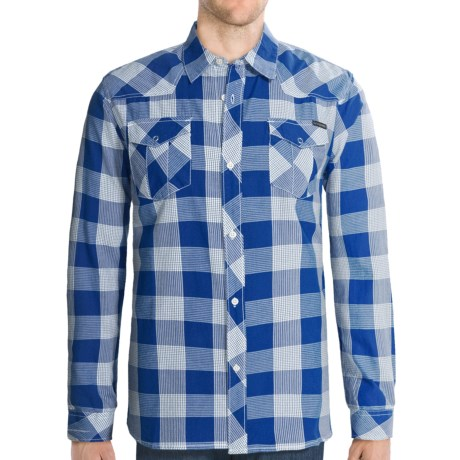 Quiksilver Notorious Shirt - Long Sleeve (For Men) in Royal