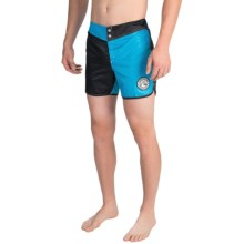 Quiksilver Nylon Original Scallop Jester Boardshorts (For Men) in Hawaiian Ocean - Closeouts