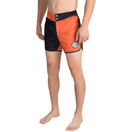 Quiksilver Nylon Original Scallop Jester Boardshorts (For Men) in Mandarin Red - Closeouts