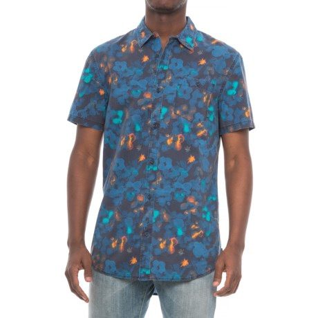 Quiksilver Only Flowers Shirt - Short Sleeve (For Men) in Navy Only Flowers