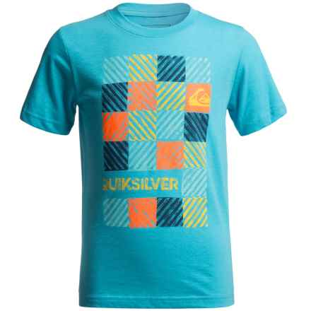 Quiksilver Opt Out T-Shirt - Short Sleeve (For Big Boys) in Scuba Blue Heather - Closeouts