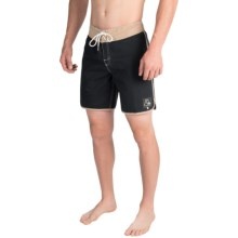 Quiksilver Original Scallop Boardshorts (For Men) in Antracite - Closeouts