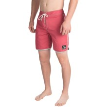 Quiksilver Original Scallop Boardshorts (For Men) in Garnet Rose - Closeouts