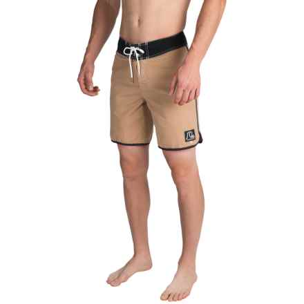 Quiksilver Original Scallop Boardshorts (For Men) in Khaki - Closeouts