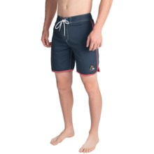 Quiksilver Original Scallop Boardshorts (For Men) in Navy - Closeouts