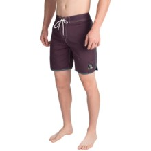 Quiksilver Original Scallop Boardshorts (For Men) in Plum Solid - Closeouts