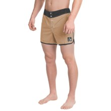 Quiksilver Original Scallop Boardshorts - Touch-Fasten Fly (For Men) in Khaki - Closeouts