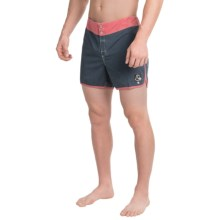 Quiksilver Original Scallop Boardshorts - Touch-Fasten Fly (For Men) in Navy - Closeouts