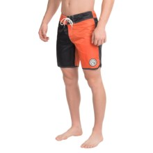 "Quiksilver Original Scallop Jester Boardshorts - 18"" (For Men) in Mandarin Red - Closeouts"