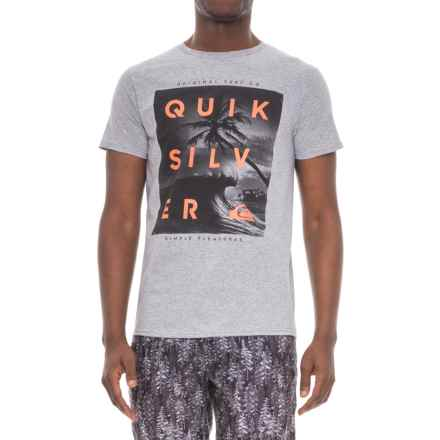 Quiksilver Outer Reef T-Shirt - Short Sleeve (For Men) in Athletic Heather - Closeouts