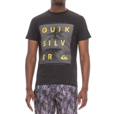 Quiksilver Outer Reef T-Shirt - Short Sleeve (For Men) in Black - Closeouts