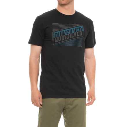 Quiksilver Port Roca T-Shirt - Short Sleeve (For Men) in Black - Closeouts
