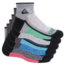 Quiksilver Print Ankle Socks - 6-Pack (For Little and Big Boys) in Black Diamond - Closeouts