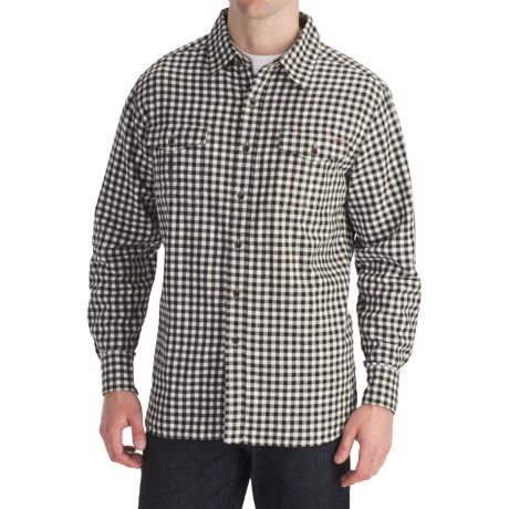 Quiksilver Prospect Ave Plaid Shirt - Long Sleeve (For Men) in Dark Brown