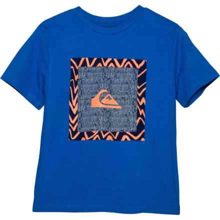 Quiksilver Royal Nano Spano T-Shirt - Short Sleeve (For Little Boys) in Royal - Closeouts
