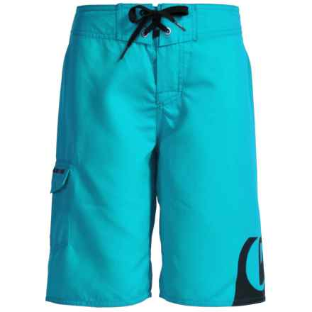 Quiksilver Side Logo Boardshorts (For Little and Big Boys) in Hawaiian Ocean - Closeouts