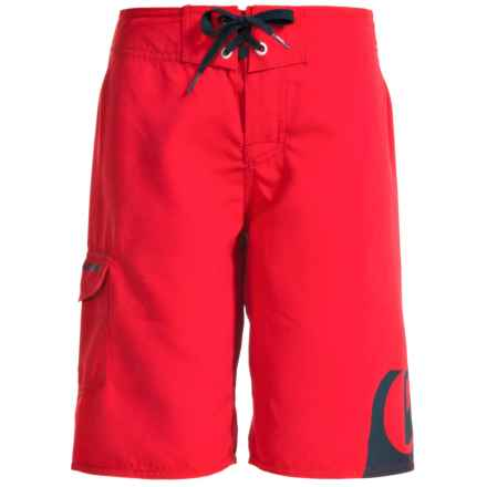 Quiksilver Side Logo Boardshorts (For Little and Big Boys) in Quik Red - Closeouts