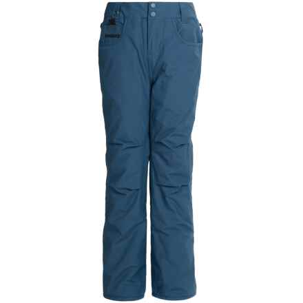 Quiksilver State Snowboard Pants - Waterproof, Insulated (For Big Boys) in Dark Denim - Closeouts