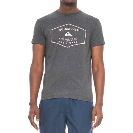 Quiksilver Static Holt T-Shirt - Short Sleeve (For Men) in Charcoal Heather - Closeouts