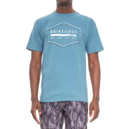 Quiksilver Strand T-Shirt - Short Sleeve (For Men) in Stone Blue - Closeouts