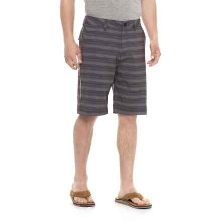 Quiksilver Stripe Amphibian Shorts (For Men) in Black - Closeouts