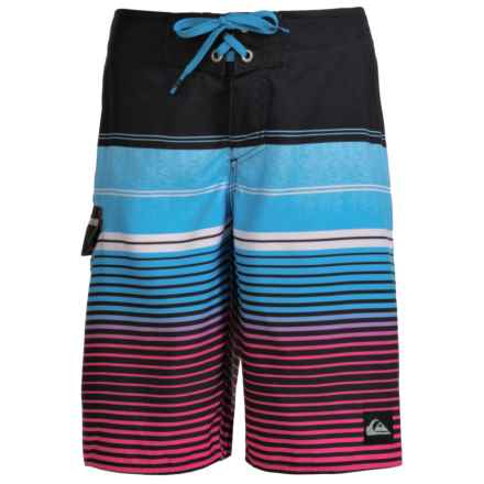 Quiksilver Stripe Boardshorts (For Little and Big Boys) in Black - Closeouts