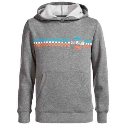 Quiksilver Vertical Line Hoodie (For Big Boys) in Medium Heather Grey - Closeouts
