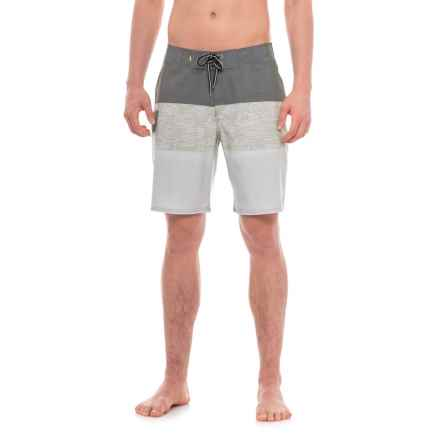"Quiksilver Waterman Fairway Tri Block Boardshorts - 9"" (For Men) in Lichen - Closeouts"