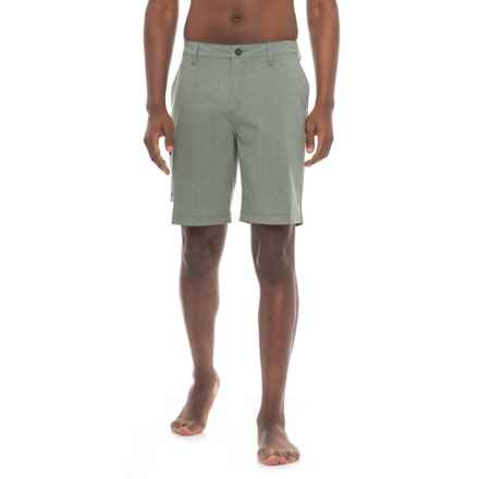 "Quiksilver Waterman Gruver Amphibian Shorts - UPF 30+, 9"" (For Men) in Wreath - Closeouts"