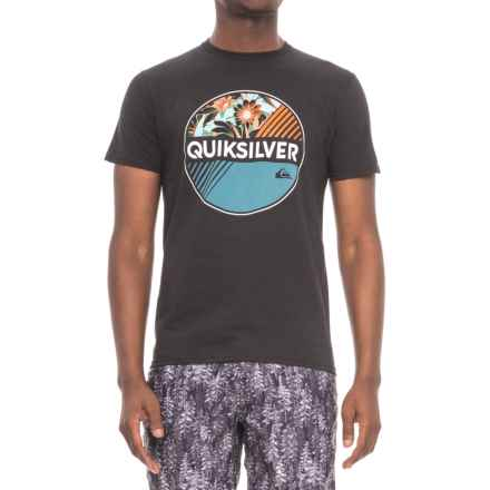 Quiksilver Wheel of Fortune T-Shirt - Short Sleeve (For Men) in Black - Closeouts