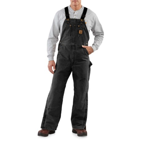 Image of Quilt-Lined Sandstone Bib Overalls - Insulated, Factory Seconds (For Men)