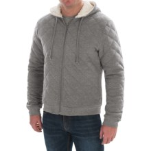 Quilted Hoodie - Sherpa-Lined Hood (For Men) in Grey Heather - 2nds