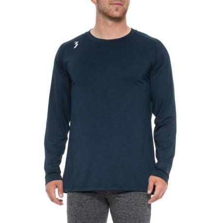 Qu!K Heather Mesh Shirt - Long Sleeve (For Men) - HEATHER MIDNIGHT (XL )