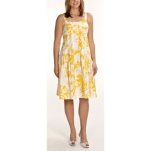 R & K Printed Sundress - Sleeveless (For Women) in Yellow - Closeouts