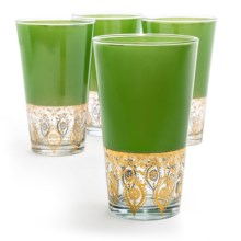 R Squared Patina Vie Chrisallis Tall Glasses - Set of 4, 16 fl.oz. in Green - Overstock