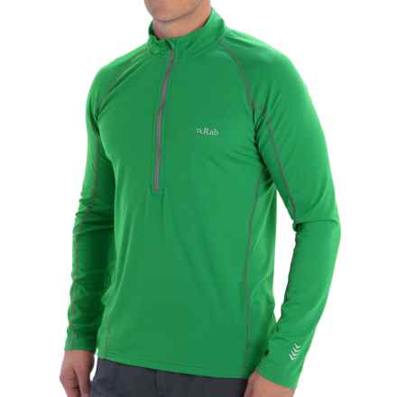 Rab Aeon Plus Shirt - UPF 30+, Neck Zip, Long Sleeve (For Men) in Green - Closeouts