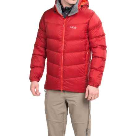 Rab Ascent Down Jacket - 650 Fill Power (For Men) in Rust/Koi - Closeouts