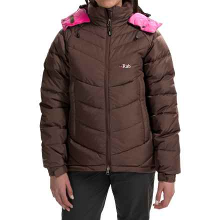 Rab Ascent Down Jacket - 650 Fill Power (For Women) in Peat - Closeouts
