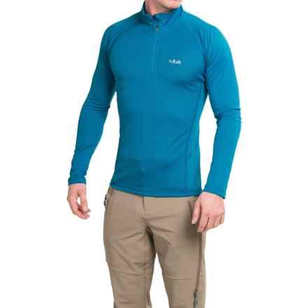 Rab DRYflo® 150 Base Layer Top - Zip Neck, Long Sleeve (For Men) in Mallard - Closeouts