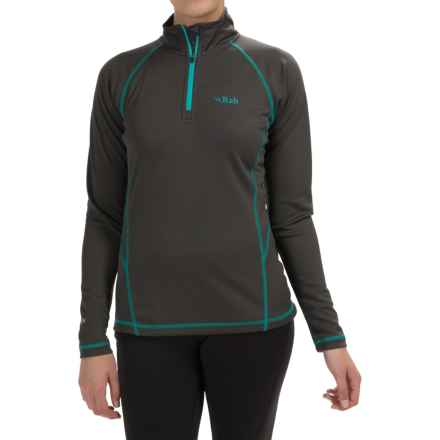 Rab DRYflo® 150 Base Layer Top - Zip Neck, Long Sleeve (For Women) in Anthracite - Closeouts
