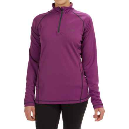 Rab DRYflo® 150 Base Layer Top - Zip Neck, Long Sleeve (For Women) in Wineberry - Closeouts