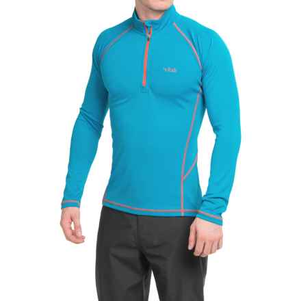 Rab DRYflo® Midweight Base Layer Top - Zip Neck, Long Sleeve (For Men) in Blue Jay - Closeouts